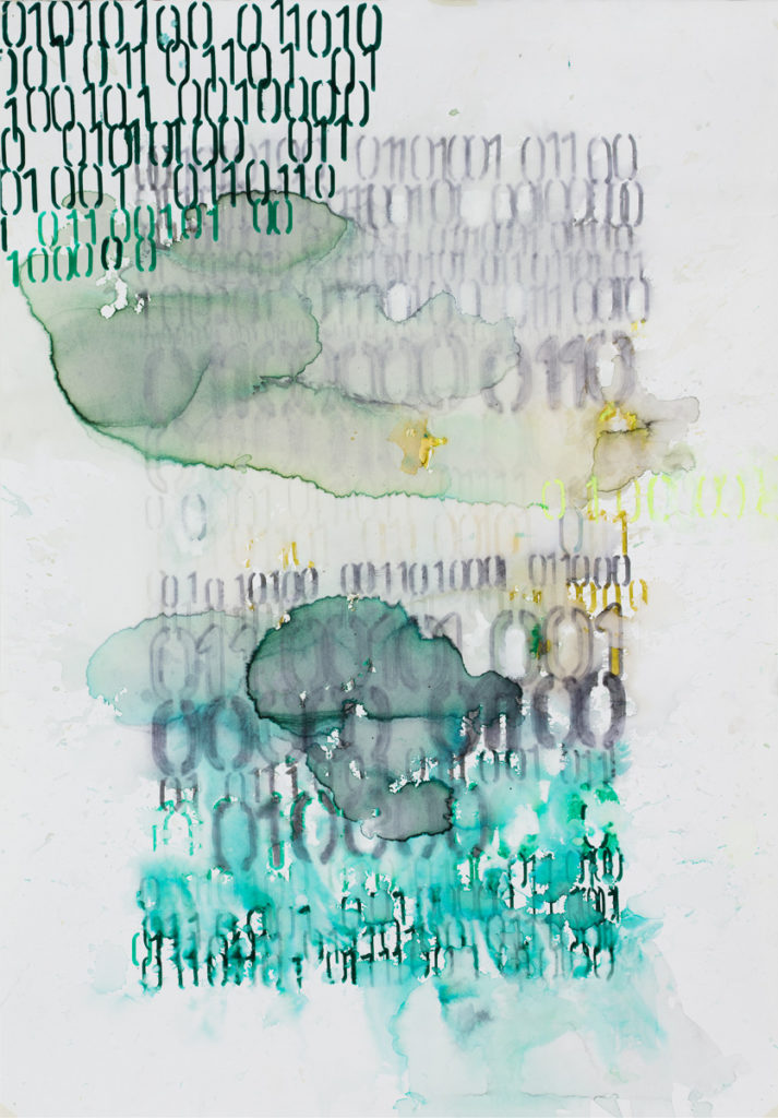 28 x 19.5 inches, Mixed media on paper, 2016