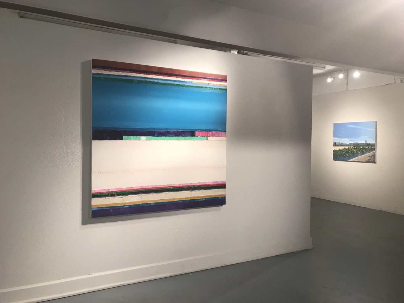 Installation View, Oil on canvas, 60x60 inches, 2018