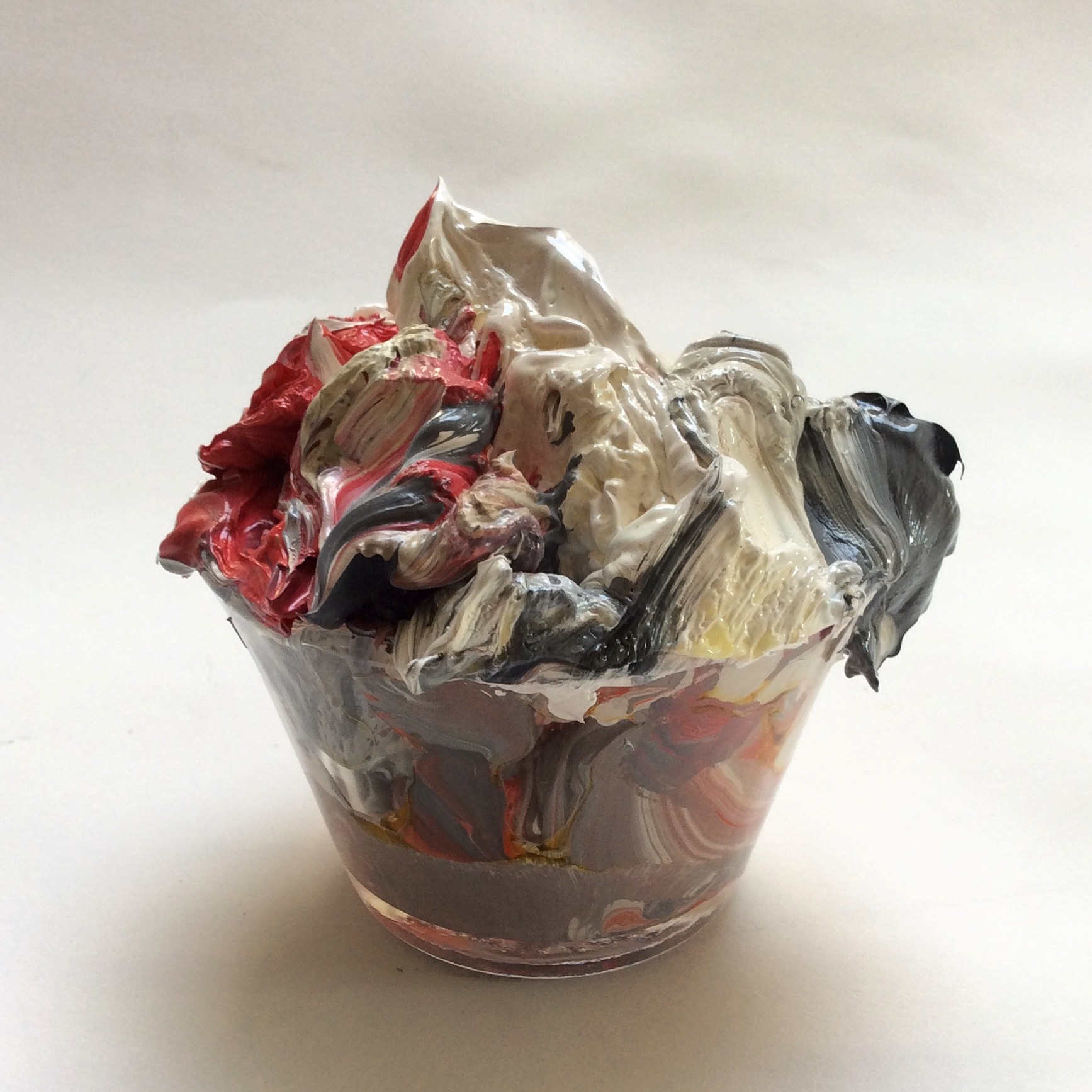 """""""Midnght Snack 5,"""" Discarded paint and glass dish"""