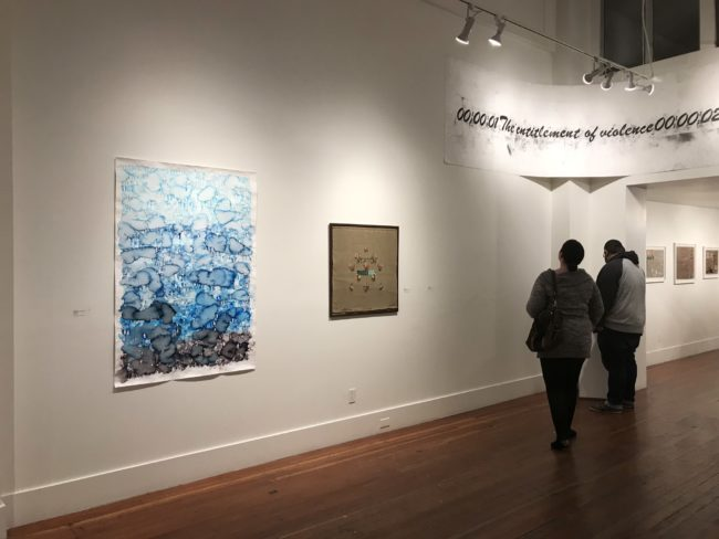 "Installation View, ""Time Is A Substance That Moves In All Directions"" Root Division Gallery, San Francisco, California"